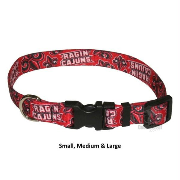 Louisiana Lafayette Ragin' Cajuns Nylon Collar