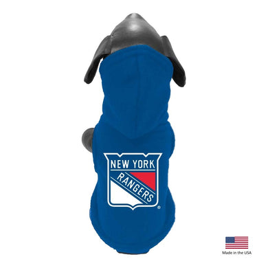 New York Rangers Polar Fleece Pet Hoodie - XXL