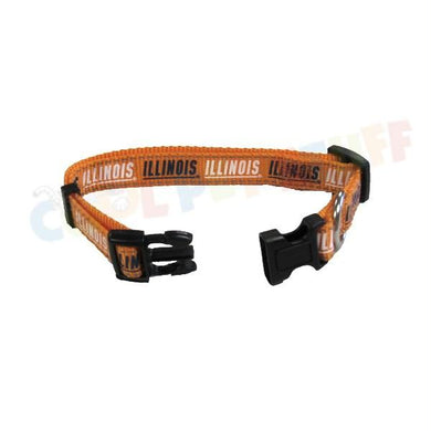 Illinois Fighting Illini Pet Reflective Nylon Collar