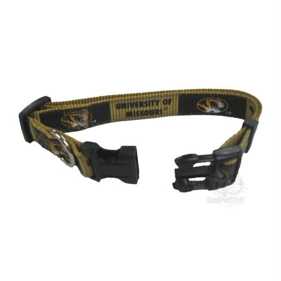 Missouri Tigers Pet Reflective Nylon Collar