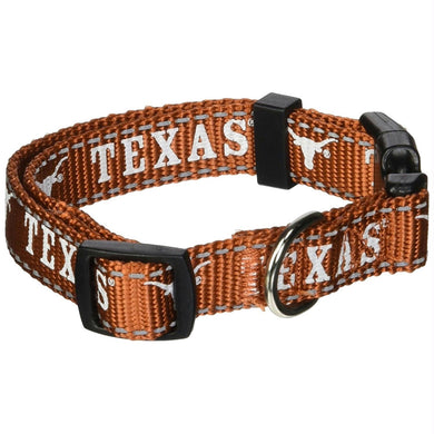 Texas Longhorns Pet Reflective Nylon Collar