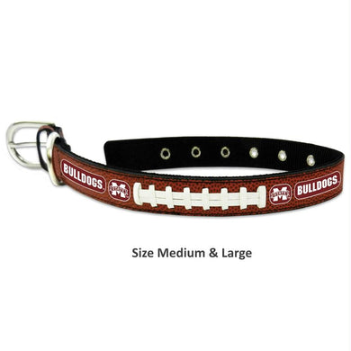 Mississippi State Classic Leather Football Collar