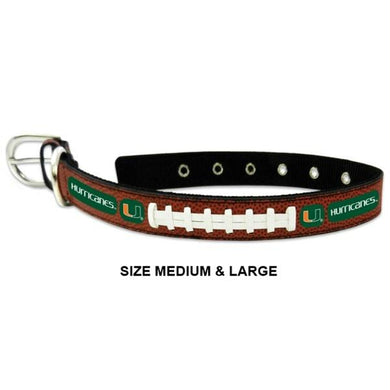 Miami Hurricanes Classic Leather Football Collar