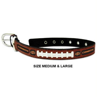 Oklahoma State Cowboys Classic Leather Football Collar