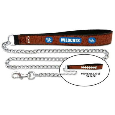 Kentucky Wildcats Football Leather and Chain Leash