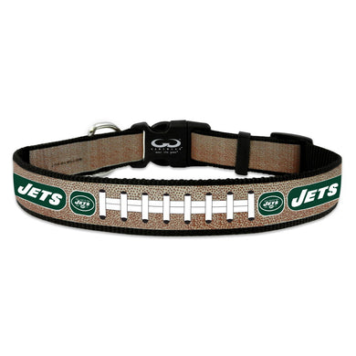 New York Jets Reflective Football Pet Collar - Large