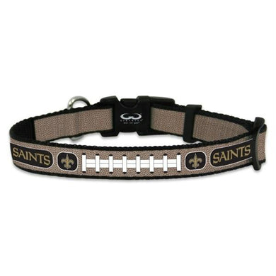 New Orleans Saints Reflective Football Pet Collar