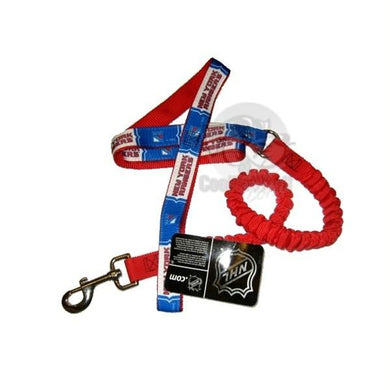 New York Rangers Bungee Ribbon Pet Leash