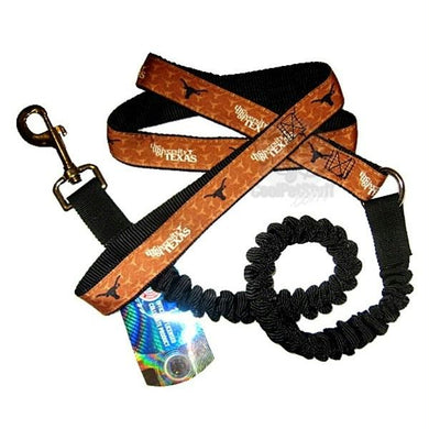 Texas Longhorns Bungee Ribbon Pet Leash