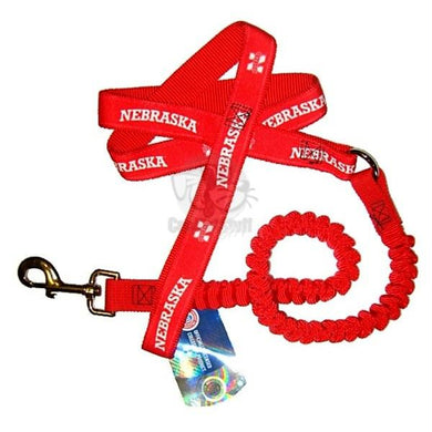 Nebraska Huskers Bungee Ribbon Pet Leash
