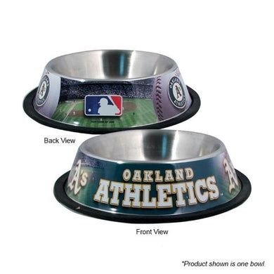 Oakland A's Stainless Steel Pet Bowl