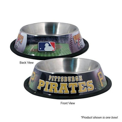 Pittsburgh Pirates Stainless Steel Pet Bowl