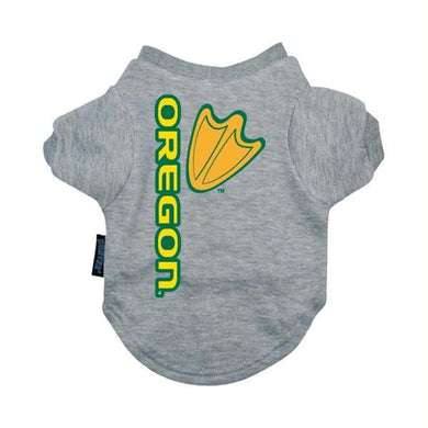 Oregon Ducks Heather Grey Pet T-Shirt