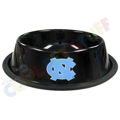 North Carolina Tarheels Gloss Black Pet Bowl