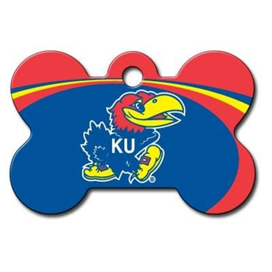 Kansas Jayhawks Bone ID Tag