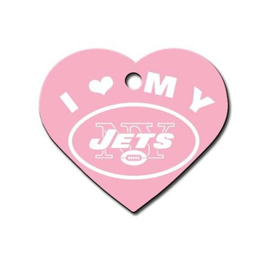 New York Jets Heart ID Tag