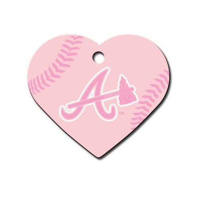 Atlanta Braves Heart ID Tag