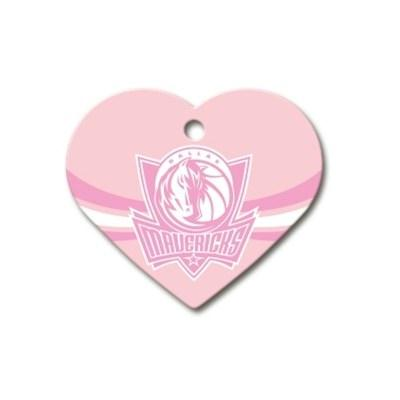 Dallas Mavericks Heart ID Tag