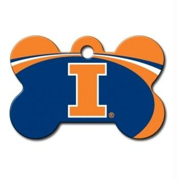 Illinois Fighting Illini Bone ID Tag