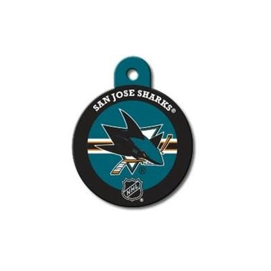 San Jose Sharks Large Circle ID Tag