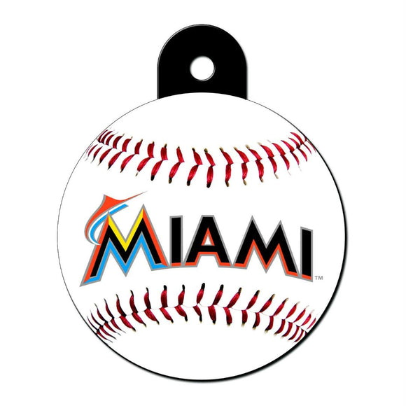Miami Marlins Large Circle ID Tag