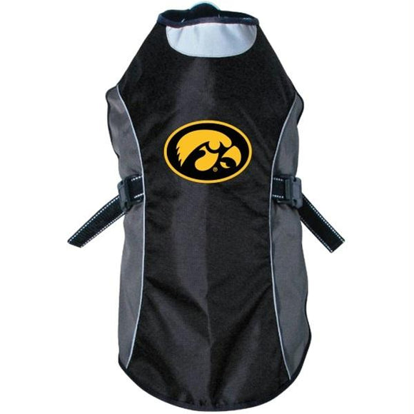 Iowa Hawkeyes Water Resistant Reflective Pet Jacket