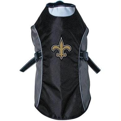 New Orleans Saints Water Resistant Reflective Pet Jacket