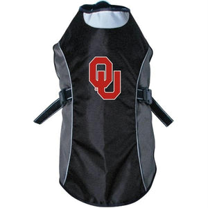 Oklahoma Sooners Water Resistant Reflective Pet Jacket