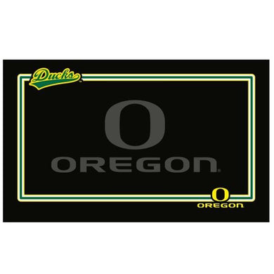 Oregon Ducks Black Pet Bowl Mat