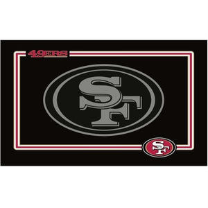 San Francisco 49ers Black Pet Bowl Mat