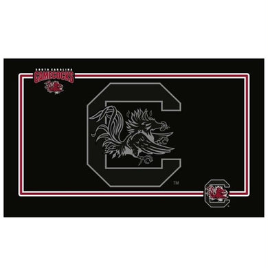 South Carolina Gamecocks Black Pet Bowl Mat