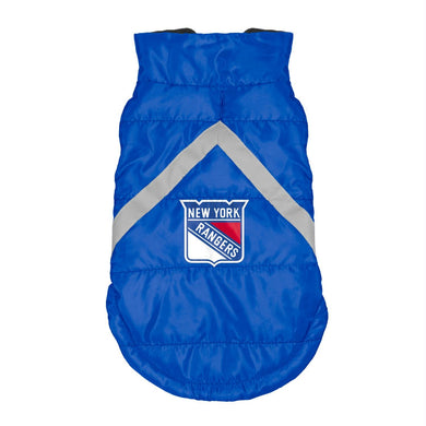 New York Rangers Pet Puffer Vest