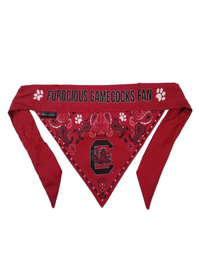 South Carolina Gamecocks Pet Reversible Paisley Bandana - XS