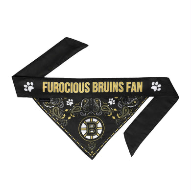 Boston Bruins Pet Reversible Paisley Bandana - Small