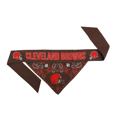 Cleveland Browns Pet Reversible Paisley Bandana