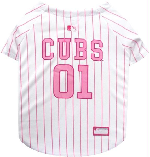 Chicago Cubs Pink Pet Jersey