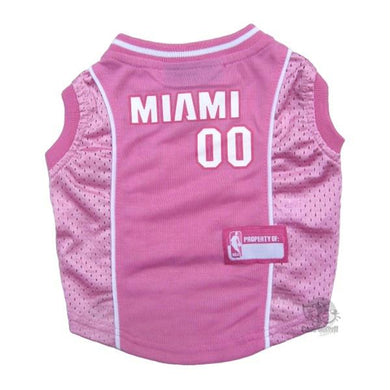 Miami Heat Pink Pet Jersey