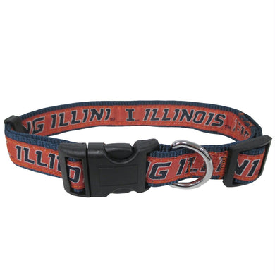 Illinois Fighting Illini Pet Collar by Pets First