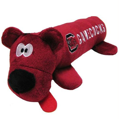 South Carolina Gamecocks Plush Tube Pet Toy