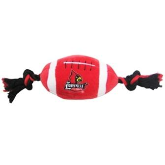 Louisville Cardinals Plush Football Dog Toy
