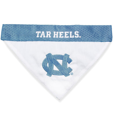 North Carolina Tarheels Pet Reversible Bandana - S/M