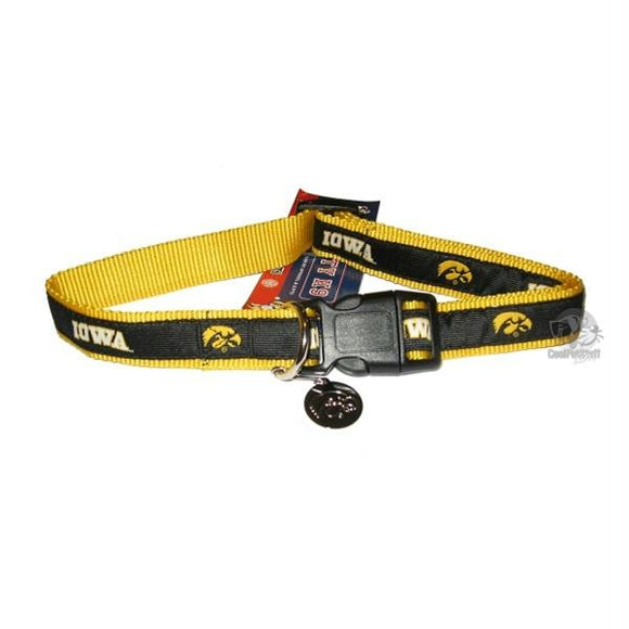 Iowa Hawkeyes Dog Collar Alternate Style