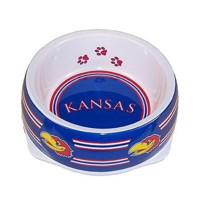 Kansas Jayhawks Dog Bowl