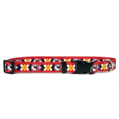 Kansas City Chiefs Argyle Nylon Collar