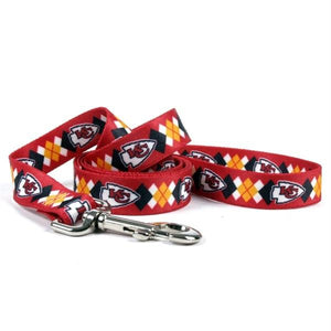 Kansas City Chiefs Argyle Nylon Leash