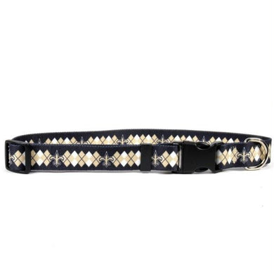 New Orleans Saints Argyle Nylon Collar
