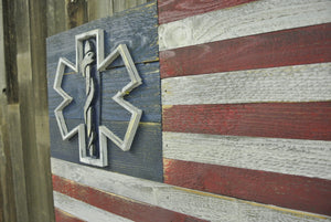 USA EMT Star of Life Flag