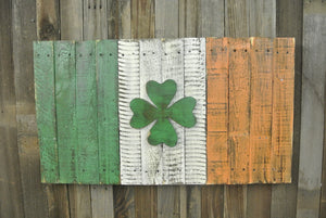 Irish Shamrock Flag