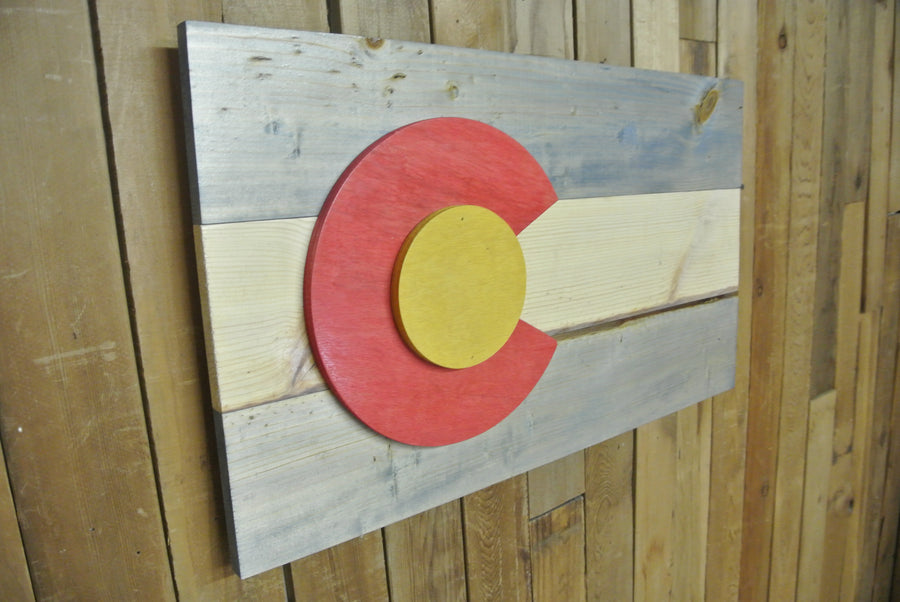 Colour Stained Colorado Flag