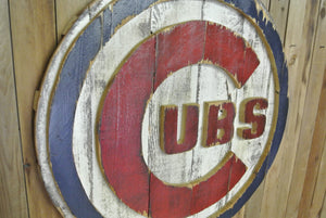 Cubs Logo (Reclaimed Wood)